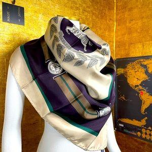 BURBERRY Vintage Silk Prosum Equestrian Square